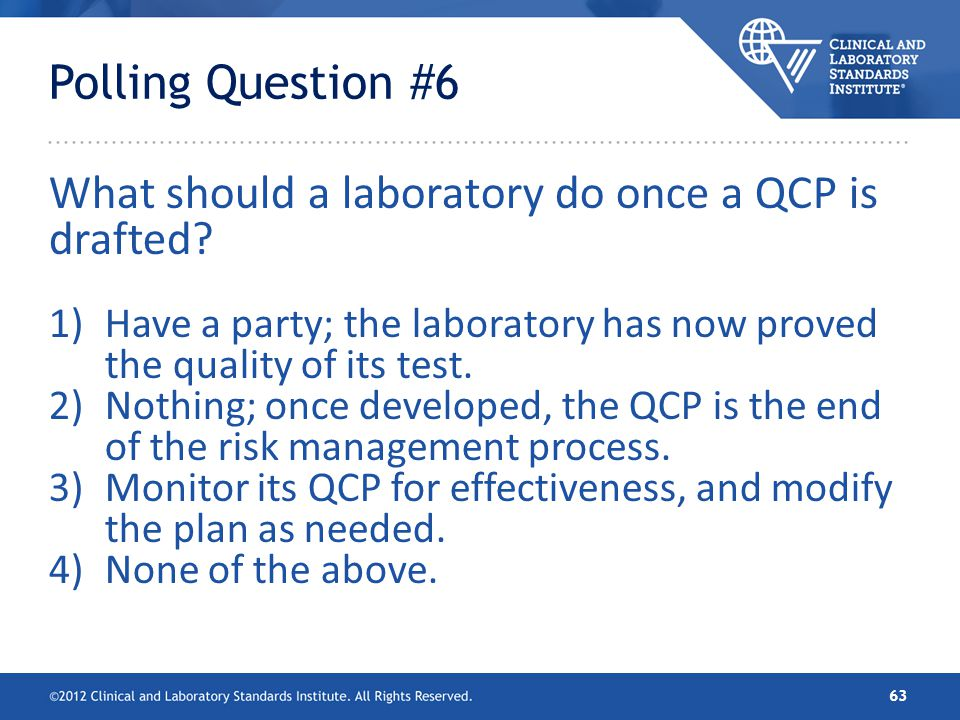 What should a laboratory do once a QCP is drafted