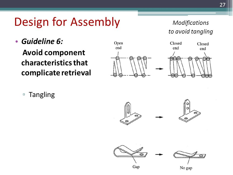 Design for Assembly Guideline 6: