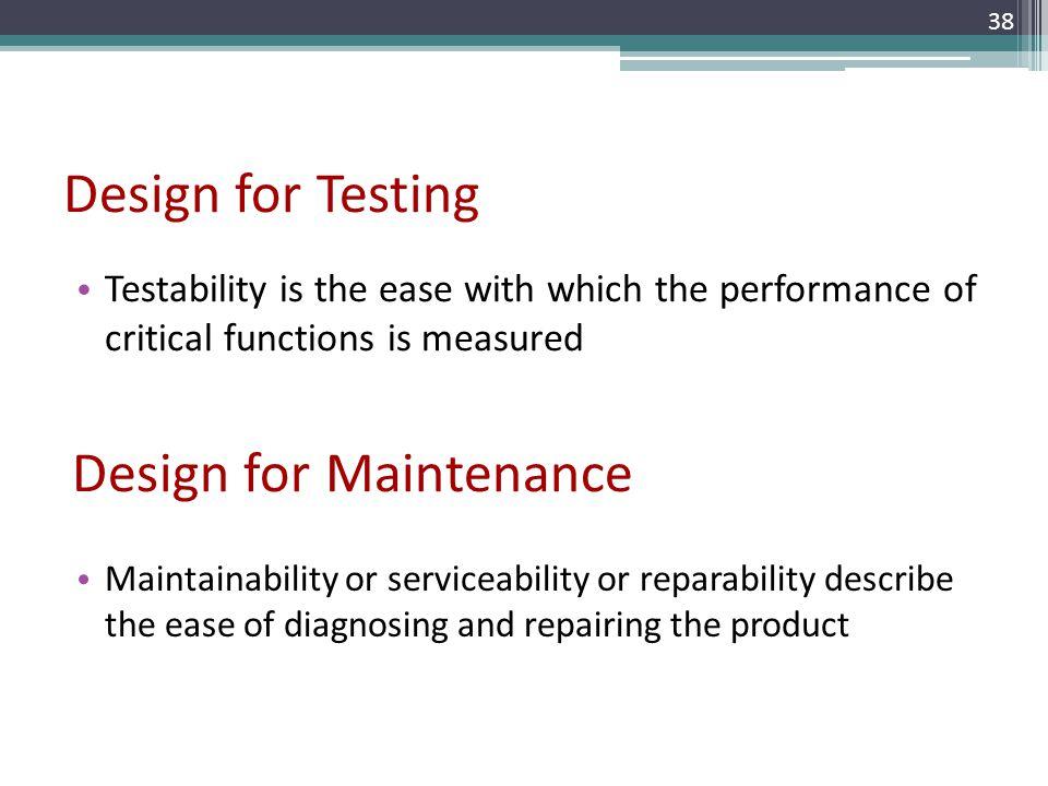 Design for Maintenance