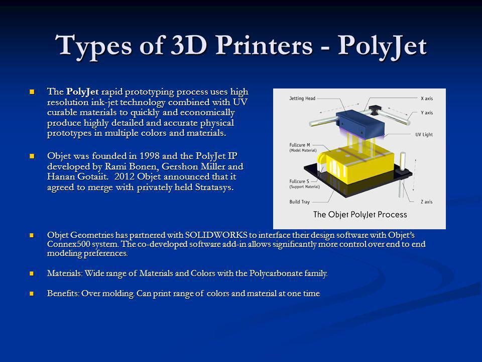Types of 3D Printers - PolyJet