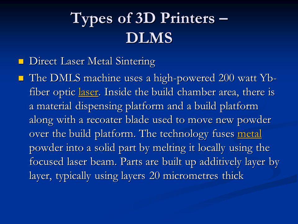 Types of 3D Printers – DLMS
