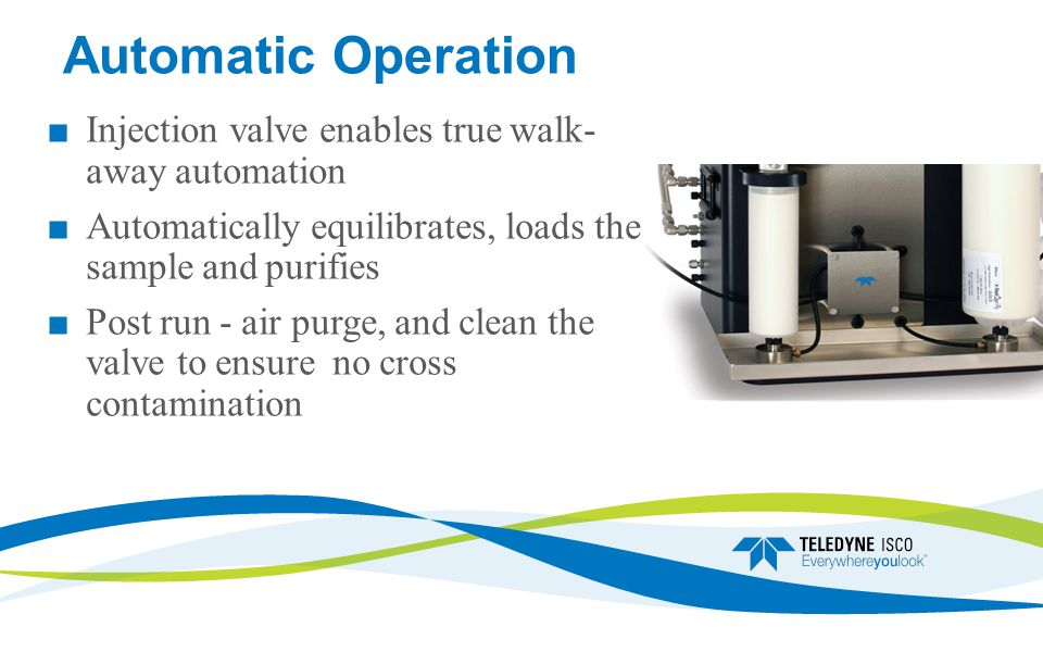 Automatic Operation Injection valve enables true walk- away automation