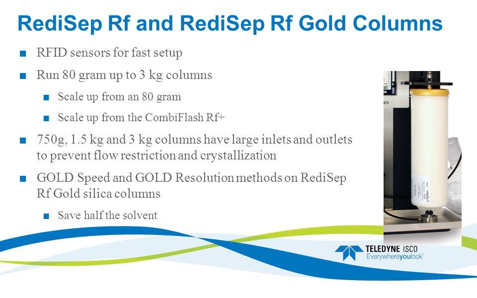 RediSep Rf and RediSep Rf Gold Columns