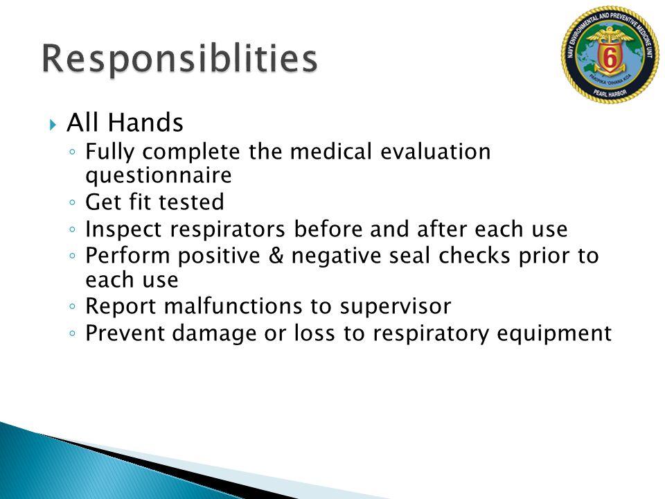 Responsiblities All Hands