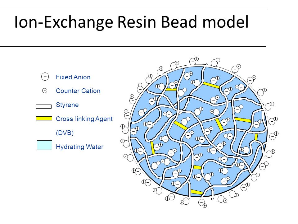 Ion-Exchange Resin Bead model