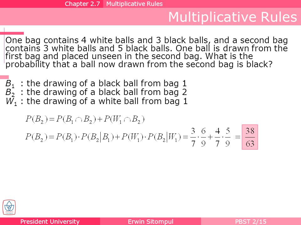 Chapter 2.7 Multiplicative Rules. Multiplicative Rules.