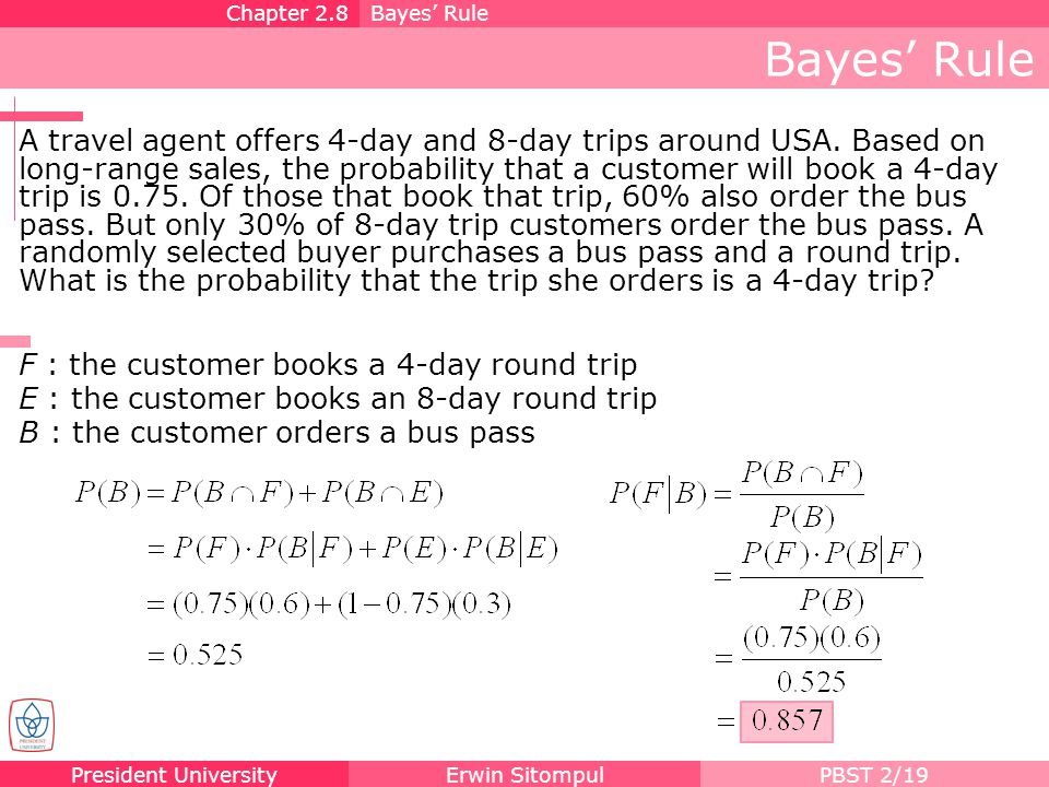 Chapter 2.8 Bayes' Rule. Bayes' Rule.