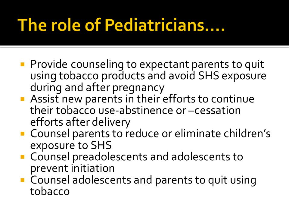 The role of Pediatricians….