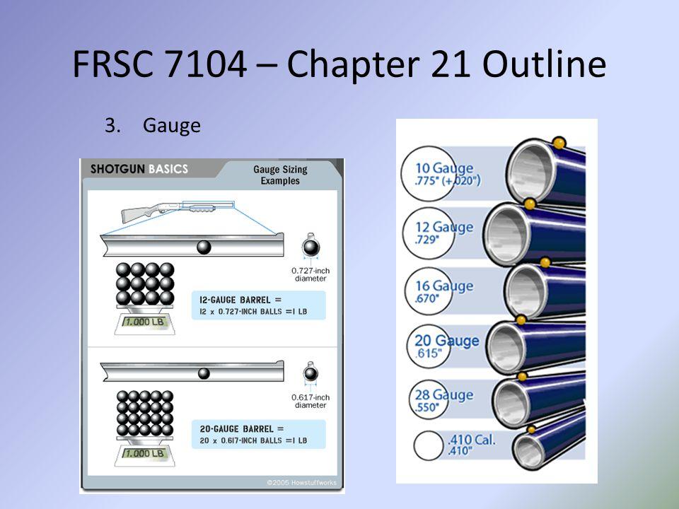 FRSC 7104 – Chapter 21 Outline Gauge