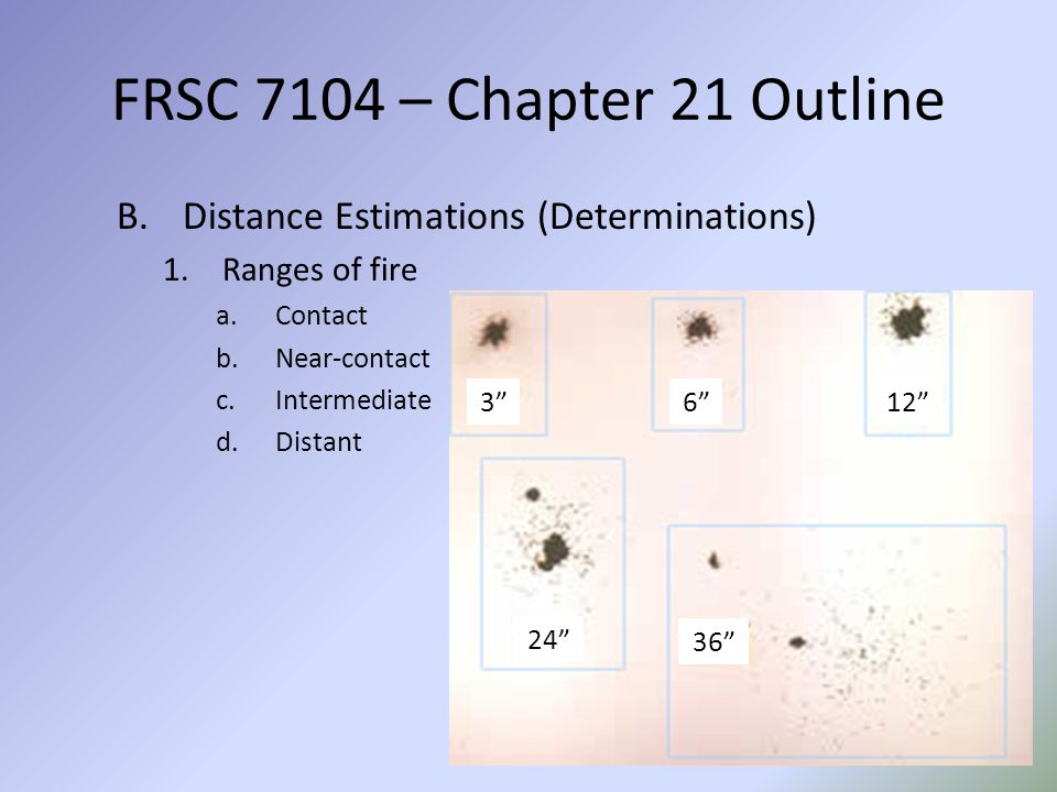 FRSC 7104 – Chapter 21 Outline Distance Estimations (Determinations)