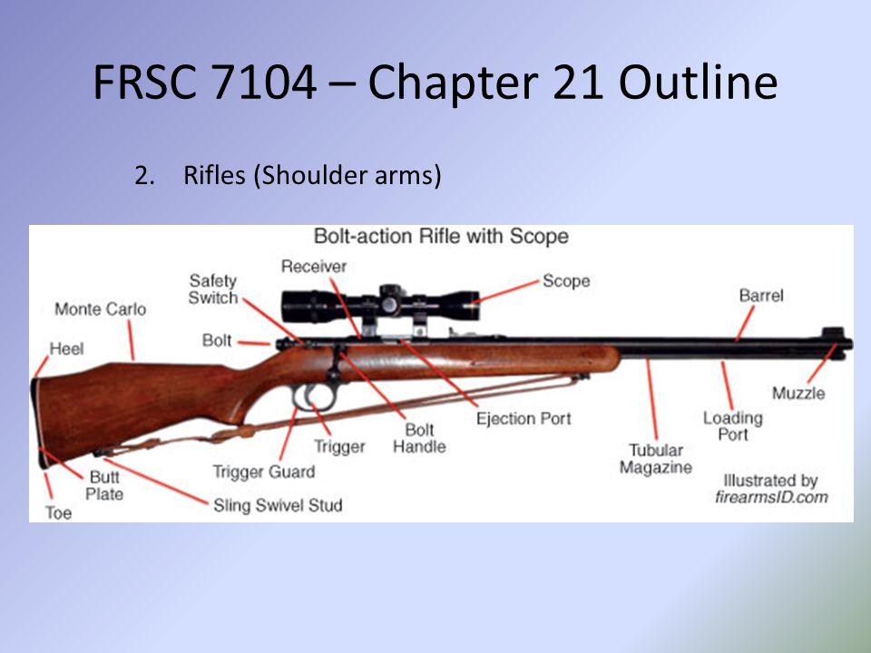 FRSC 7104 – Chapter 21 Outline Rifles (Shoulder arms)