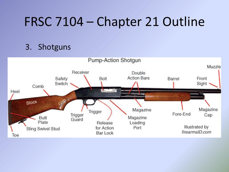FRSC 7104 – Chapter 21 Outline Shotguns