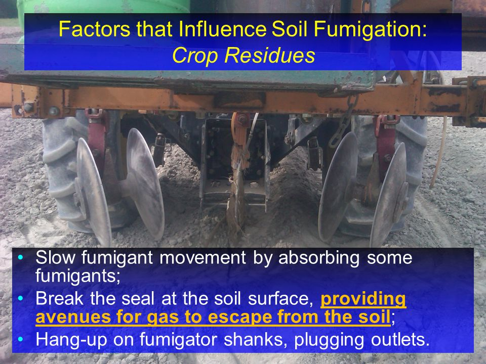 Factors that Influence Soil Fumigation: Crop Residues
