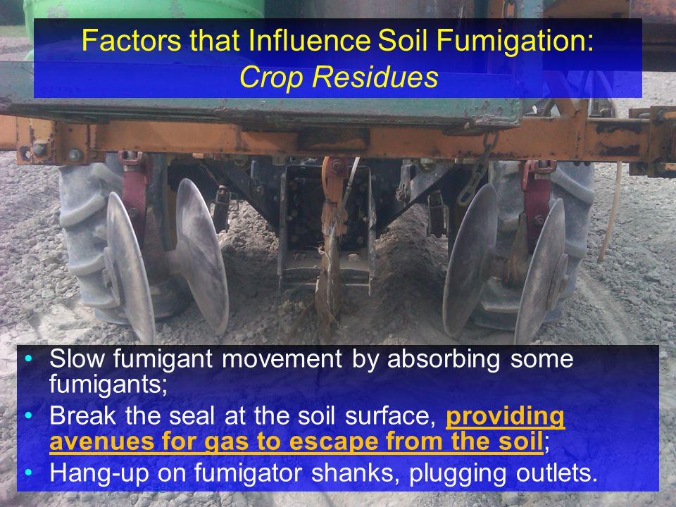 Factors that Influence Soil Fumigation: Crop Residues