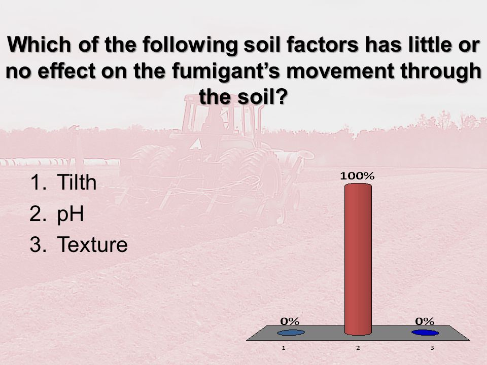 Which of the following soil factors has little or no effect on the fumigant's movement through the soil
