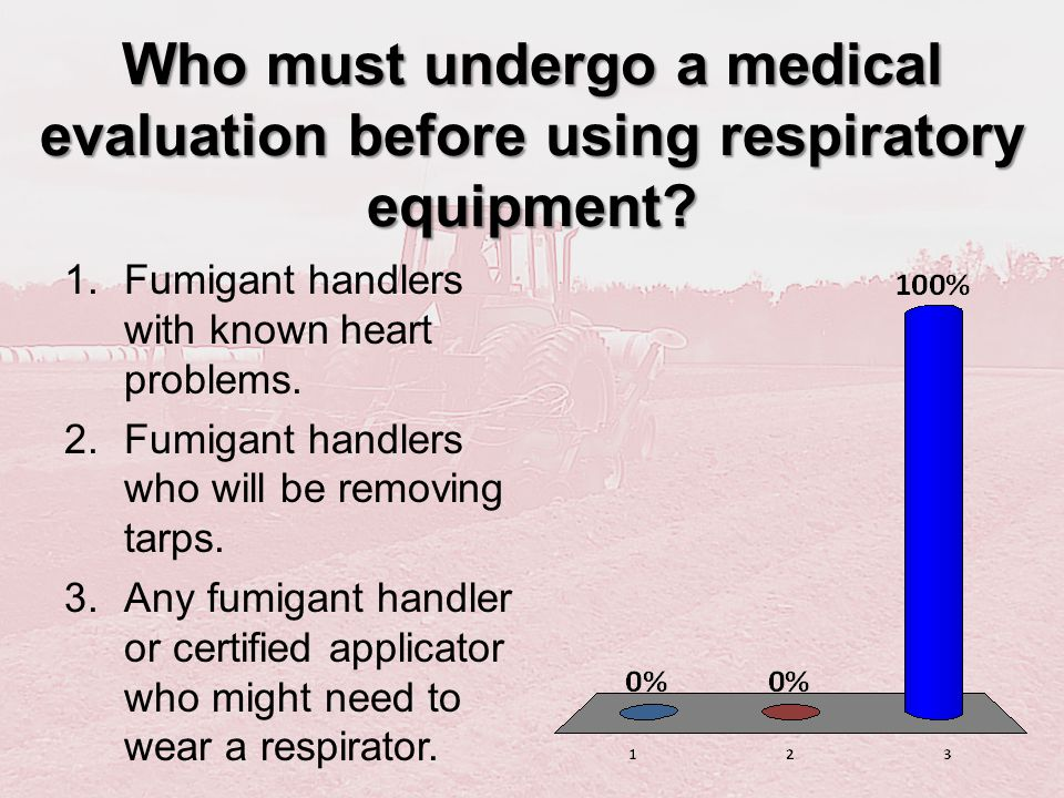 Who must undergo a medical evaluation before using respiratory equipment