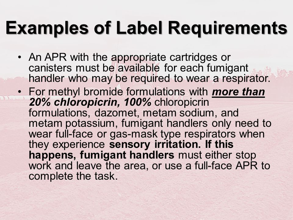 Examples of Label Requirements