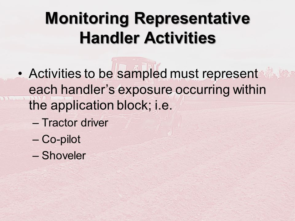 Monitoring Representative Handler Activities