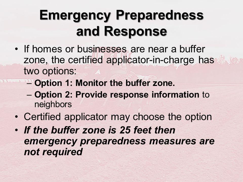 Emergency Preparedness and Response
