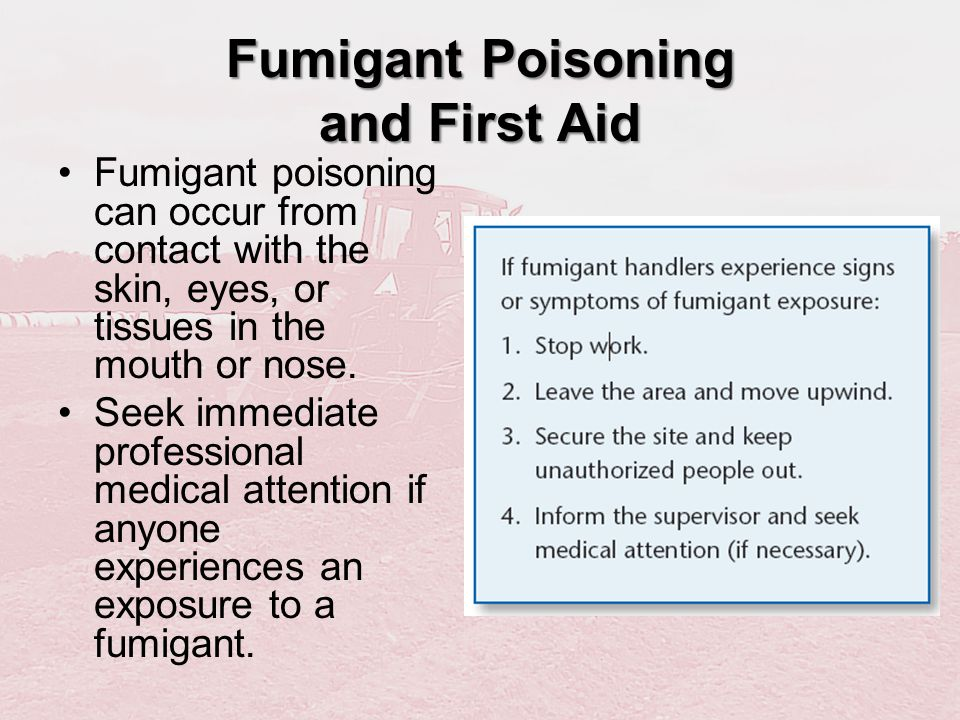 Fumigant Poisoning and First Aid