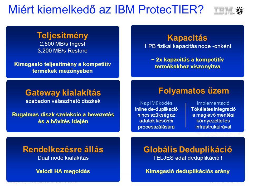 Miért kiemelkedő az IBM ProtecTIER