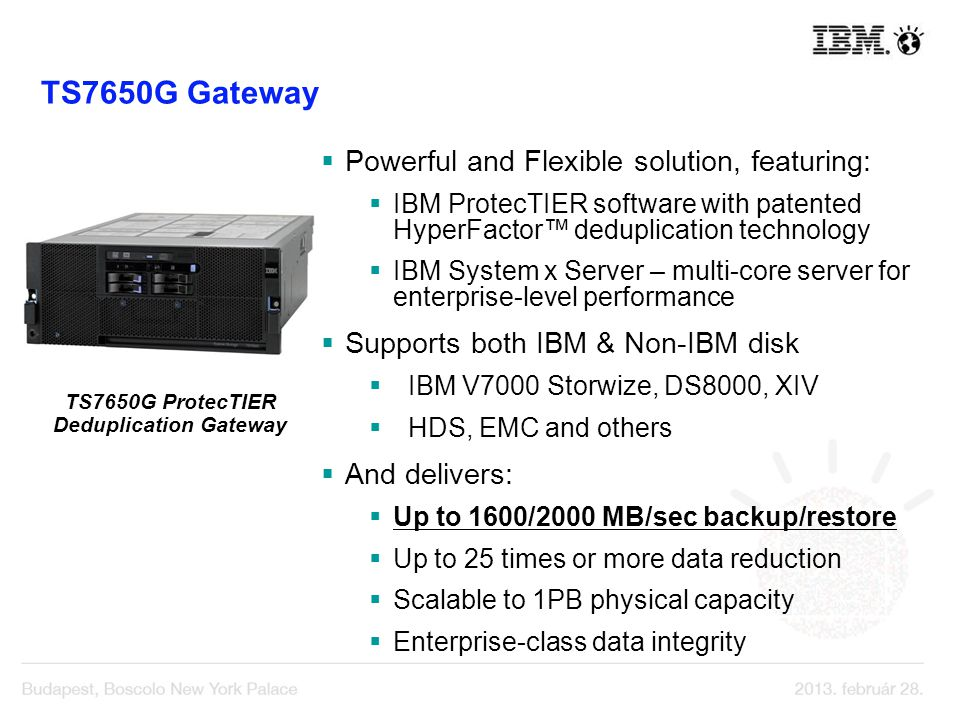 TS7650G ProtecTIER Deduplication Gateway