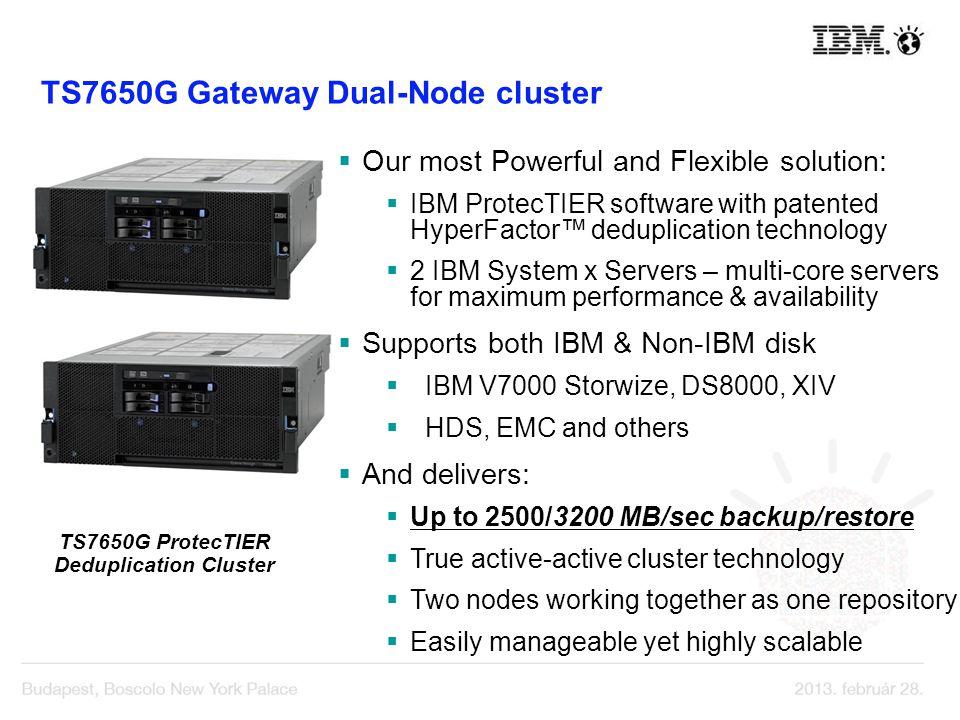 TS7650G ProtecTIER Deduplication Cluster