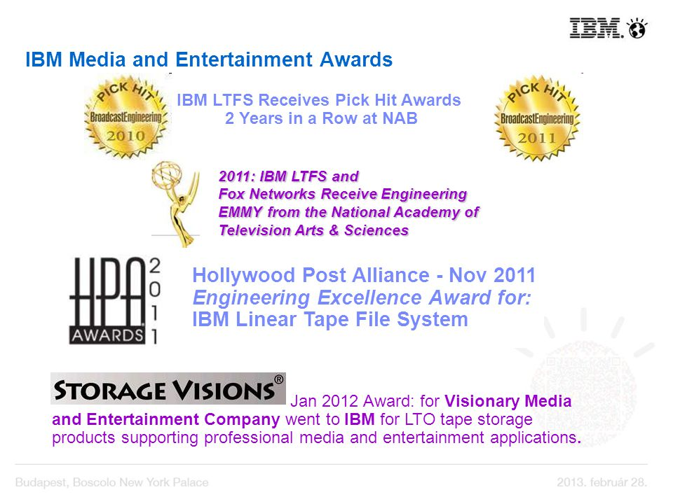 IBM Media and Entertainment Awards