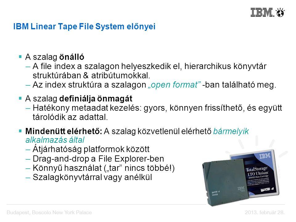 IBM Linear Tape File System előnyei