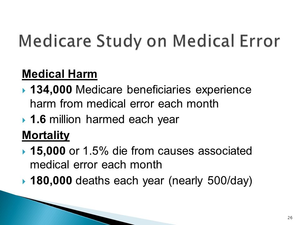 Medicare Study on Medical Error