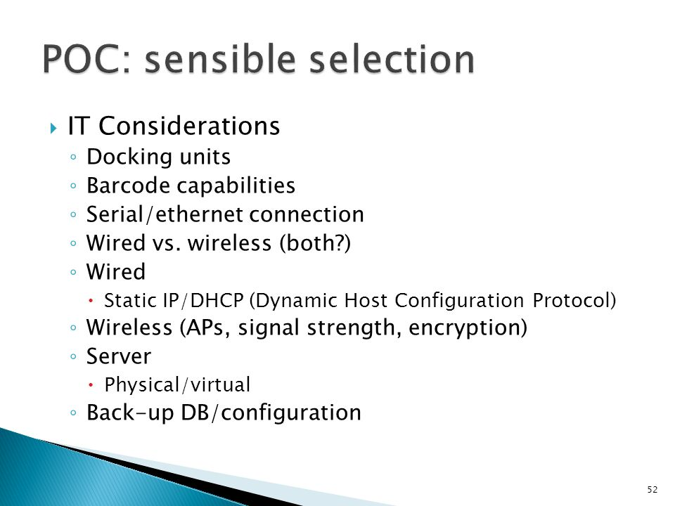 POC: sensible selection