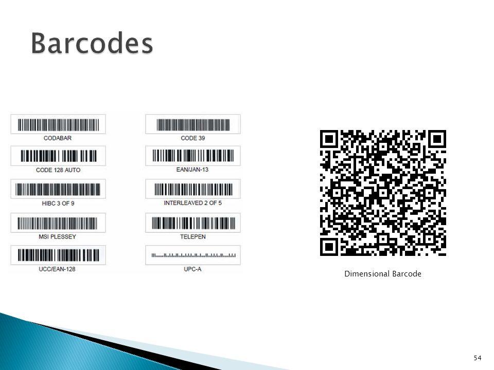 Barcodes Dimensional Barcode