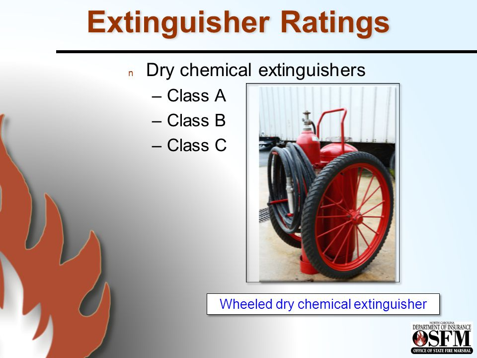 Wheeled dry chemical extinguisher