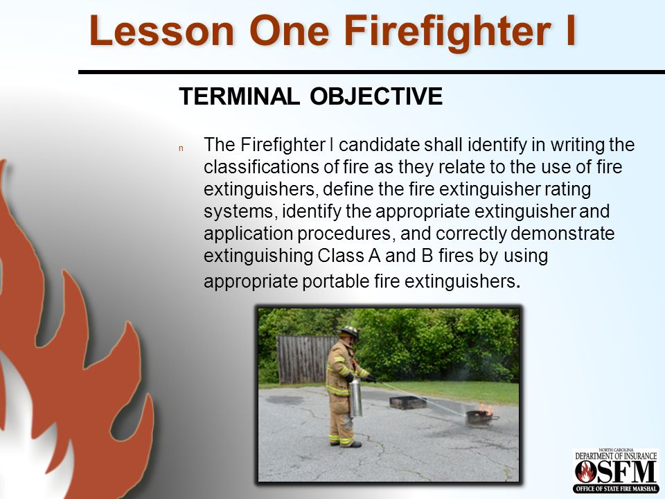 Lesson One Firefighter I