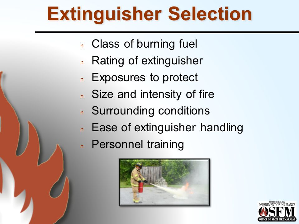 Extinguisher Selection
