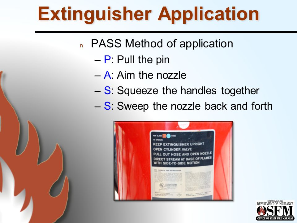 Extinguisher Application