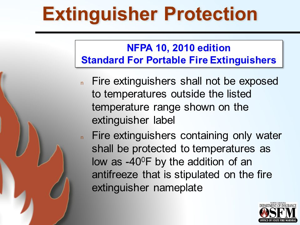 Extinguisher Protection