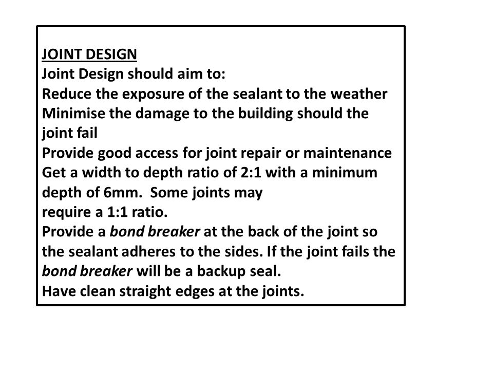 Joint Design should aim to: