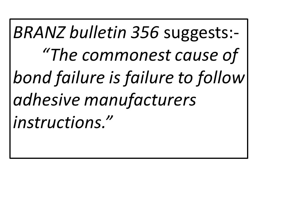 BRANZ bulletin 356 suggests:-