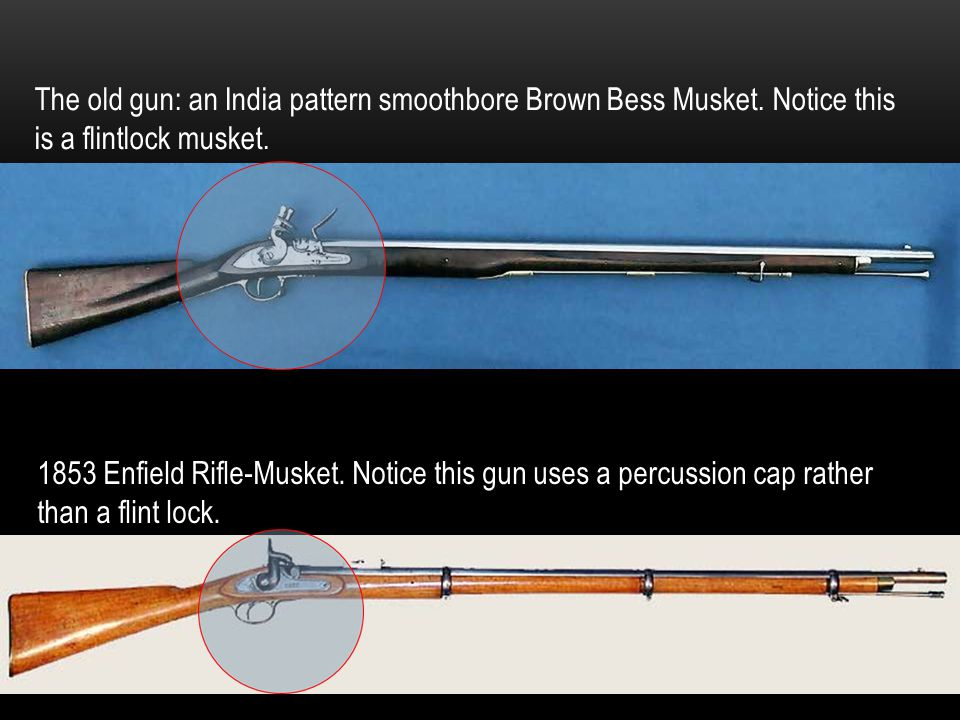 The old gun: an India pattern smoothbore Brown Bess Musket