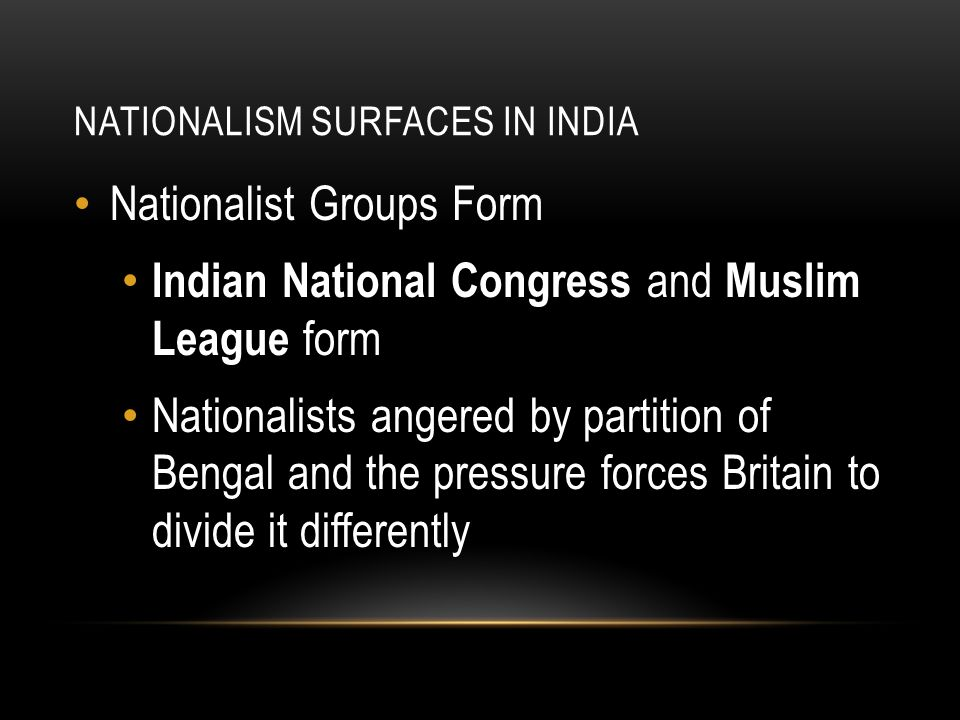 Nationalism Surfaces in India