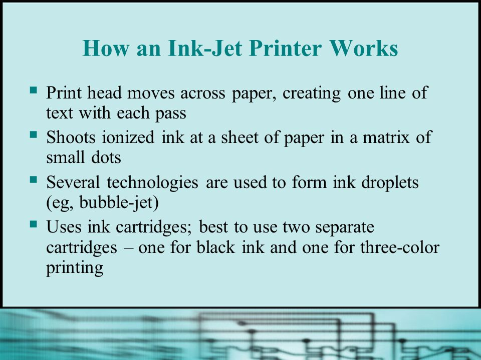 How an Ink-Jet Printer Works