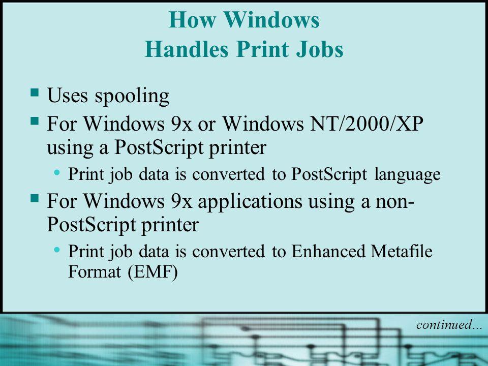 How Windows Handles Print Jobs
