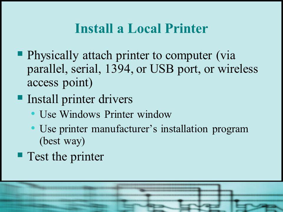 Install a Local Printer