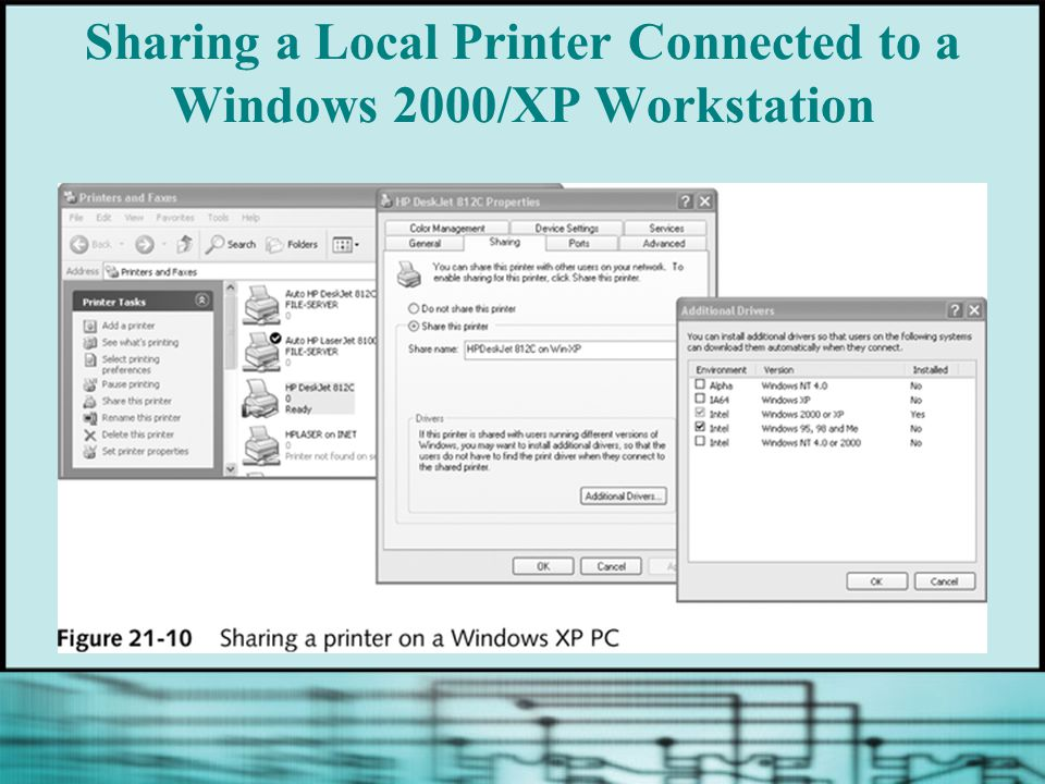 Sharing a Local Printer Connected to a Windows 2000/XP Workstation