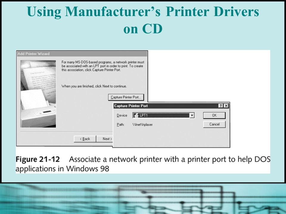 Using Manufacturer's Printer Drivers on CD