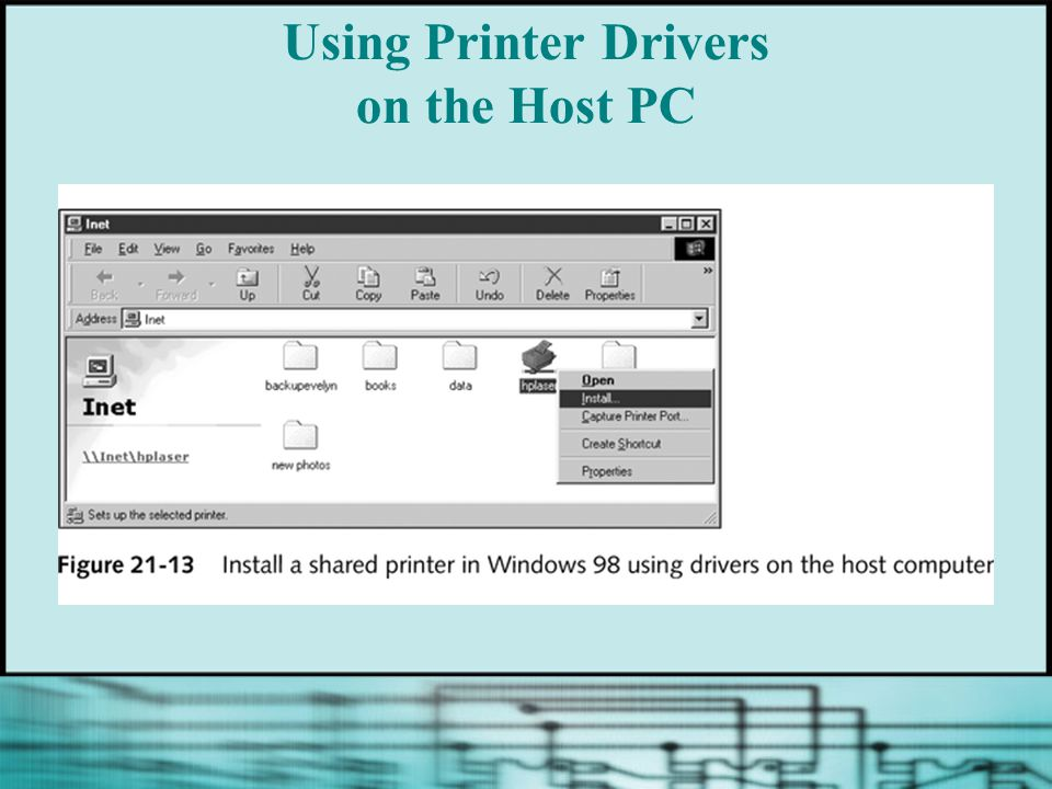 Using Printer Drivers on the Host PC