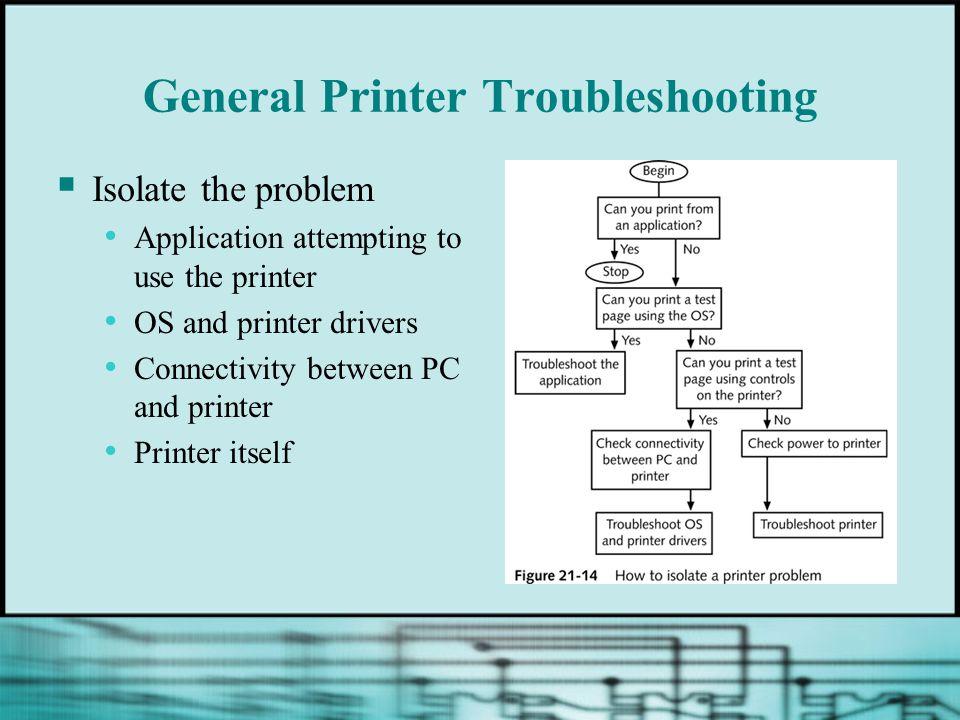 General Printer Troubleshooting