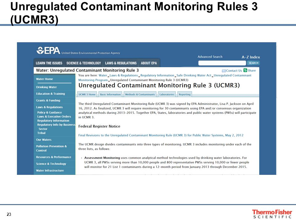 Unregulated Contaminant Monitoring Rules 3 (UCMR3)