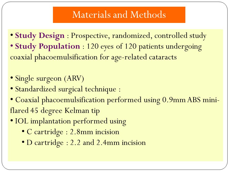 Materials and Methods Study Design : Prospective, randomized, controlled study.